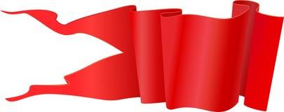 Stendardo rosso Immagine Stock Libera da Diritti