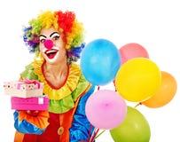 Stående av clownen. Arkivbild