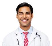 Stående av den lyckliga manliga doktorn Arkivbilder