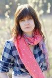 Stående av den unga kvinnan Royaltyfri Fotografi