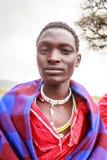 Stående av den unga masaien Arkivfoto