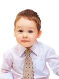 Stående av det gulliga affärsbarnet. tre år gammal pojke Arkivbild