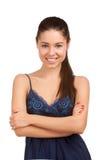 Stående av en nätt ung kvinna Fotografering för Bildbyråer
