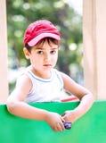 Stående av en pojke för år 3-4 Royaltyfri Bild