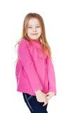 Stående av liten flicka Arkivfoto