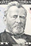 Stående av Ulysses Grant på femtio dollar Royaltyfria Foton