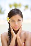 Stående för kvinna för skönhet för Spakvinnawellness Fotografering för Bildbyråer