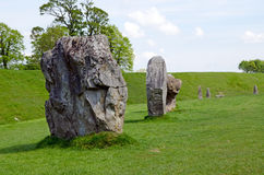 Stående stenar på Avebury, England Royaltyfri Fotografi