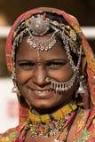 Ståendeindierkvinna Fotografering för Bildbyråer