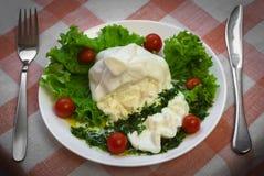 Stenditura del formaggio di Burrata Immagine Stock