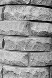 Stenditura del mattone strutturato arrotondato Fotografie Stock