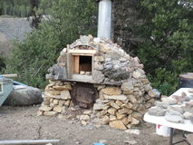 Stenen byggde ugnen Fotografering för Bildbyråer