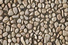 Stenen die in cement worden geplaatst Stock Afbeeldingen