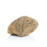 Stenen die op witte achtergrond worden geïsoleerde Natuurlijke mineralen Stock Fotografie
