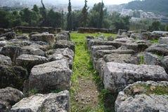 Stenen en gras zoals een labyrint Royalty-vrije Stock Foto's