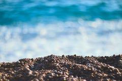 Stenen en overzees Royalty-vrije Stock Fotografie