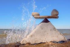 Stenen en water Stock Fotografie