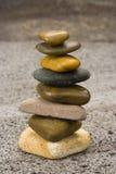 Stenen in evenwicht Stock Afbeelding