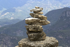 Stenen in evenwicht Royalty-vrije Stock Foto