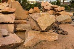 Stenen geplaatste grond Stock Foto's