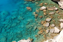 Stenen in het Ionische Overzees Stock Foto