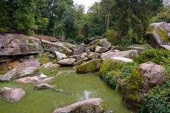 Stenen in het park van Sofievka, de Oekraïne Royalty-vrije Stock Afbeelding