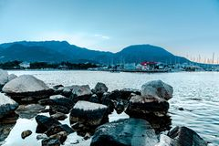 Stenen in het water royalty-vrije stock foto