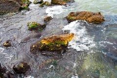 Stenen in het water Stock Afbeeldingen