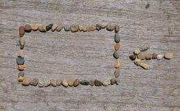 Stenen i tabellfyrkanten och Fotografering för Bildbyråer