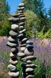 Stenen in Japanse tuin Royalty-vrije Stock Afbeelding