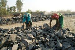 Stenen maalmachines in India Royalty-vrije Stock Afbeeldingen