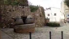 Stenen maler från Albaida & x28; Valencia& x29; & x28; Spain& x29; Arkivbild