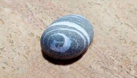 Stenen med spiral bild Arkivbilder