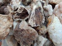 Stenen met textuur geweven behang als achtergrond, strand Oceaan royalty-vrije stock foto