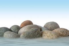 Stenen met water Stock Afbeeldingen