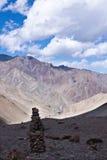 Stenen in montains, Ladakh, India Royalty-vrije Stock Afbeelding