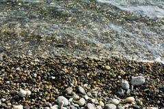 Stenen op de bodem op een strand royalty-vrije stock foto