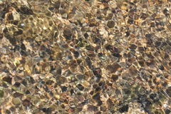 Stenen op de bodem van de kreek Royalty-vrije Stock Fotografie