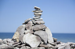 Stenen op de kust Royalty-vrije Stock Afbeeldingen