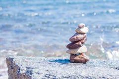 Stenen op een strand Stock Afbeelding