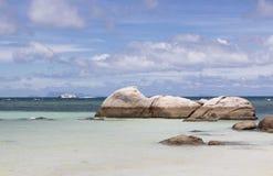 Stenen op het kustgebied Stock Foto
