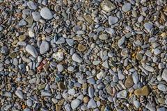 Stenen op het zand stock afbeelding