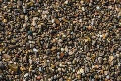 Stenen op het zand stock foto