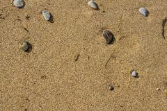 Stenen op het zand royalty-vrije stock fotografie