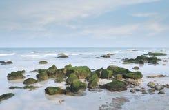 Stenen op Hua Hin-strand Stock Fotografie