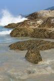Stenen op tropisch strand royalty-vrije stock afbeeldingen