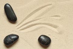 Stenen op Zand Stock Afbeelding