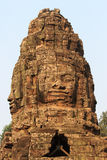 Stenen snider i den Bayon templet arkivbild