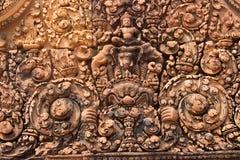 Stenen snider i tempel av arkivfoton