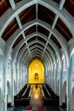 Stenen välva sig i kapell Arkivfoton